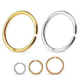 Endless ring semplice d'oro 14 carati
