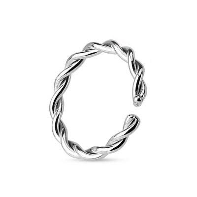 Endless ring semplice ritorto